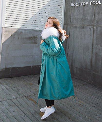 Xuanku Cotton Coat Wool Shirt Coat Thick Sleeve Cotton Cloth Coat Cotton Top blue