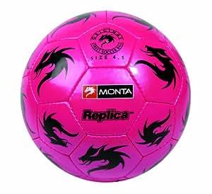 Monta REPLICA I - Balón de fútbol, color rosa/negro, talla 4,5