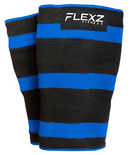 (Flexz Fitness Knee Compression Sleeve (1 Pair) - Support for Arthritis Prevention & Recovery - Triple Ply Orthopedic Brace - X-Large)
