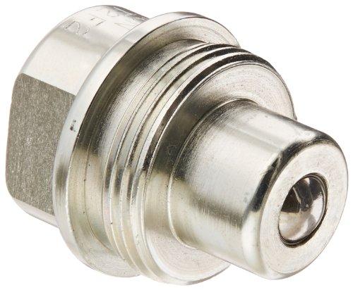 Dixon Valve T2F2 Steel High Pressure Ball Interchange Fitting, Nipple, 1/4'' Coupling x 1/4'' - 18 NPTF Female Thread by Dixon Valve & Coupling (Image #1)