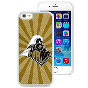Fashionable And Unique Designed With Ncaa Big Ten Conference Football Purdue Boilermakers 16 Protective Cell Phone Hardshell Cover Case For iPhone 6 4.7 Inch TPU Phone Case White