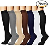 Best Compression Stockings - Compression Socks,(7pair) for Women & Men - Best Review