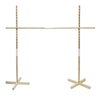 Get Out! Wooden Limbo Game for Kids Adults, 5ft Tall Limbo Stick Set Limbo Kit, Limbo Pole and Base for Luau Party Games: Toys & Games