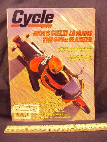 1980 80 July CYCLE Magazine (Features: Road Test on Moto Guzzi Le Mans CX100, Suauki PE175T / PE 175 T, & Honda CB650 / CB 650)