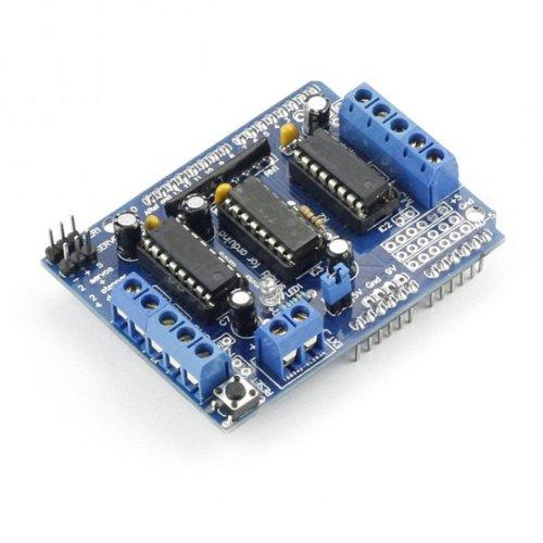 - SainSmart L293D Motor Drive Shield For Arduino Duemilanove Mega UNO R3 AVR ATMEL