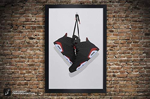 Air Jordan 6 (Six) Illustration, Vintage Hanging Kicks - Sneaker Wall Art: 11