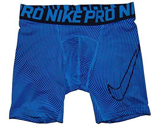 Nike Big Boys' (8-20) Pro Cool Allover Print Training Shorts-Blue-Small by NIKE
