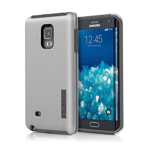 Samsung Galaxy Note Edge Case, Incipio [Protective] DualPro Shine Case for Samsung Galaxy Note Edge-Silver/Charcoal