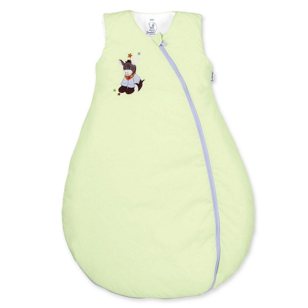 Sterntaler Schlafsack für Kleinkinder, Ganzjährig, Wärmeregulierung, Reißverschluss, Größe: 70, Emmi, Grün Ganzjährig Wärmeregulierung Reißverschluss Größe: 70