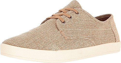 Desert TOMS Paseo Sneaker Men's Coated Twill Taupe pptTzwxF