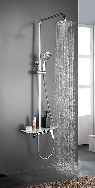 Columna de ducha extralarga PAL grifo monomando con repisa de ...