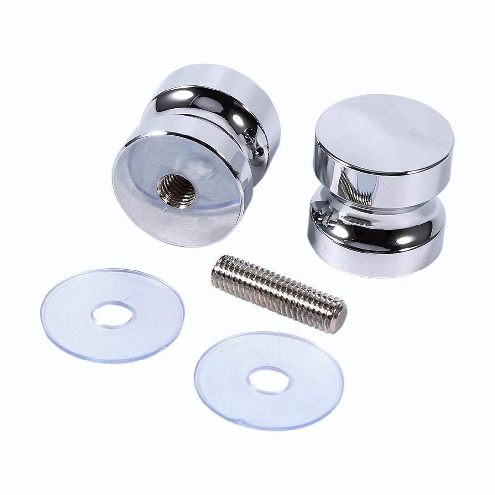 GLOGLOW Lega di alluminio singolo Groove vetro porta manopola doccia maniglia per armadio casa bagno Set di 2