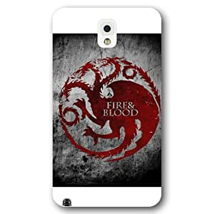 Onelee - Customized Personalized White Frosted Samsung Galaxy Note 3 Case, Game of Thrones winter is coming Samsung Note 3 case, Only fit Samsung Galaxy Note 3 by ruishername