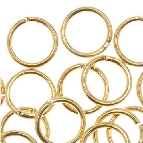 - UnCommon Artistry Gold Tone Brass Open 6mm Jump Rings 20 Gauge (100)