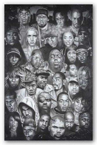 "Hip Hop Montage by Herbert Beyer 36""x24"" Art Print Poster Af"