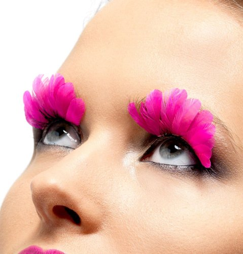 Pnks Costumes (Fever Women's Eyelashes Neon Feather Contains Glue In Display Box-Pnk, Pink, One Size)