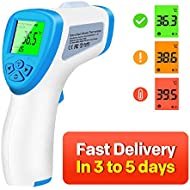 Forehead Thermometer Non-Contact Infrared Thermometer Accurate Digital Temperature Gun for Kids and Adult,Instant Reading Temperature CE and FCC Certification