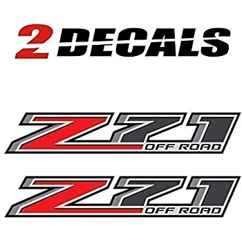 Chevy Silverado Z71 Offroad Truck Stickers Decals 2014-2018 Bedside Set of 2