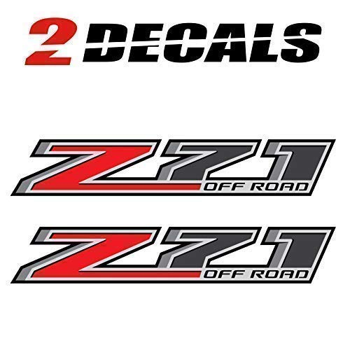 Chevy Z71 Decals - TiresFX Chevy Silverado Z71 Offroad Truck Stickers Decals - 2014-2018 Bedside (Set of 2)