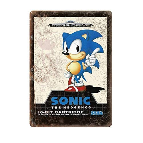 Amazon com: QFDH Sega 16-Bit Sonic The Hedgehog Mega Drive