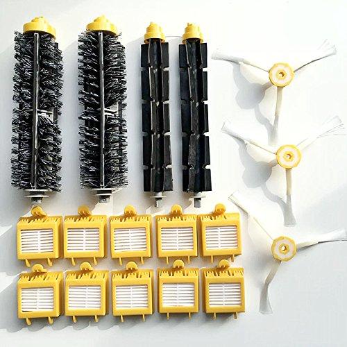 Irobot Roomba 700 Series Replenishment Kit - Replacement Parts Kit Includes Bristle Brush & Flexbile Beater & Side Brush & Hepa Filters for Irobot Roomba 700 Series 760 770 780 790 Vacuum Cleaner
