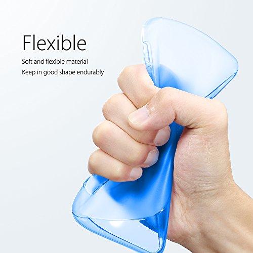Funda Sony Xperia XZ Premium, SLEO Slim Fit TPU Carcasa de Parachoques Case Traslúcido Suave con Absorción de Impactos y Resistente a los Arañazos para Sony Xperia XZ Premium - Rosa Azul