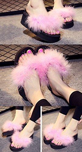 Infradito Tacco Alto Creativo Moda Donna Estate Nero Rosa Suola