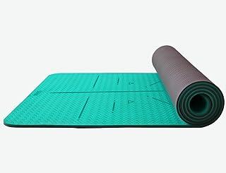 HCJYJD GUORONG Esteras de Yoga, Tasteless Antideslizante Estera de Fitness Espesar alargar Principiante Estera de Deportes Suave y cómodo Antideslizante Estera de Yoga (Color : #2)