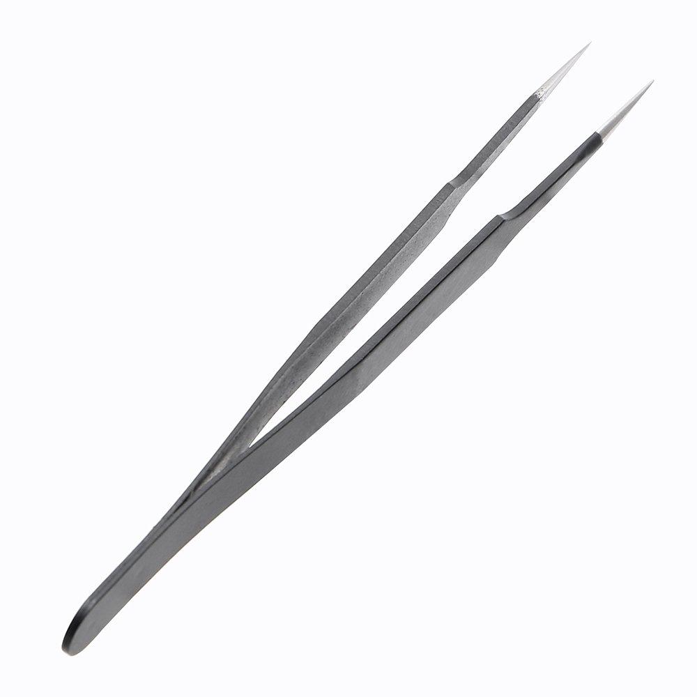 Pince de pr/écision ESD outil de soudure anti-statique /à pointe droite en acier inoxydable