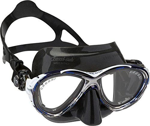 Cressi Eyes Evolution Scuba Diving Snorkeling Mask (Made in Italy), Black/Blue by Cressi by Cressi