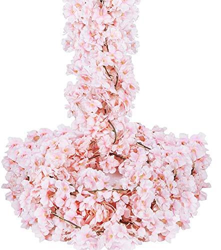 OCEANPAX 6 Pack Cherry Blossom Flowers Artificial