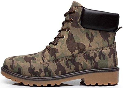 Ppxid Mens Britannico Lace Up Casual Stivaletti Invernali Stivali Da Lavoro Camouflage