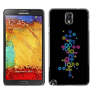 GagaDesign Phone Accessories: Hard Case Cover for Samsung Galaxy Note 3 - Abstract Colorful Circles