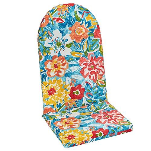 BrylaneHome Adirondack Chair Cushion - Poppy Blue (Chair Cushions Adirondack Cheap)
