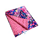 MONOBLANKS Lilly Inspired Super Soft Minky Blanket with Double Layer Dotted Backing for Adult and Baby (Giraffe, 50'x60'(Adult))