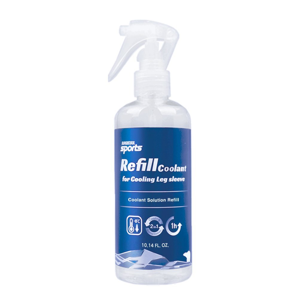 [SurgeCool] Sports Refill coolant 10 Oz for Cooling Leg Sleeve (Reusable Refill coolant only)