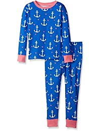 Little Blue House By Hatley Girls' Pajama Set Nautical Anchors