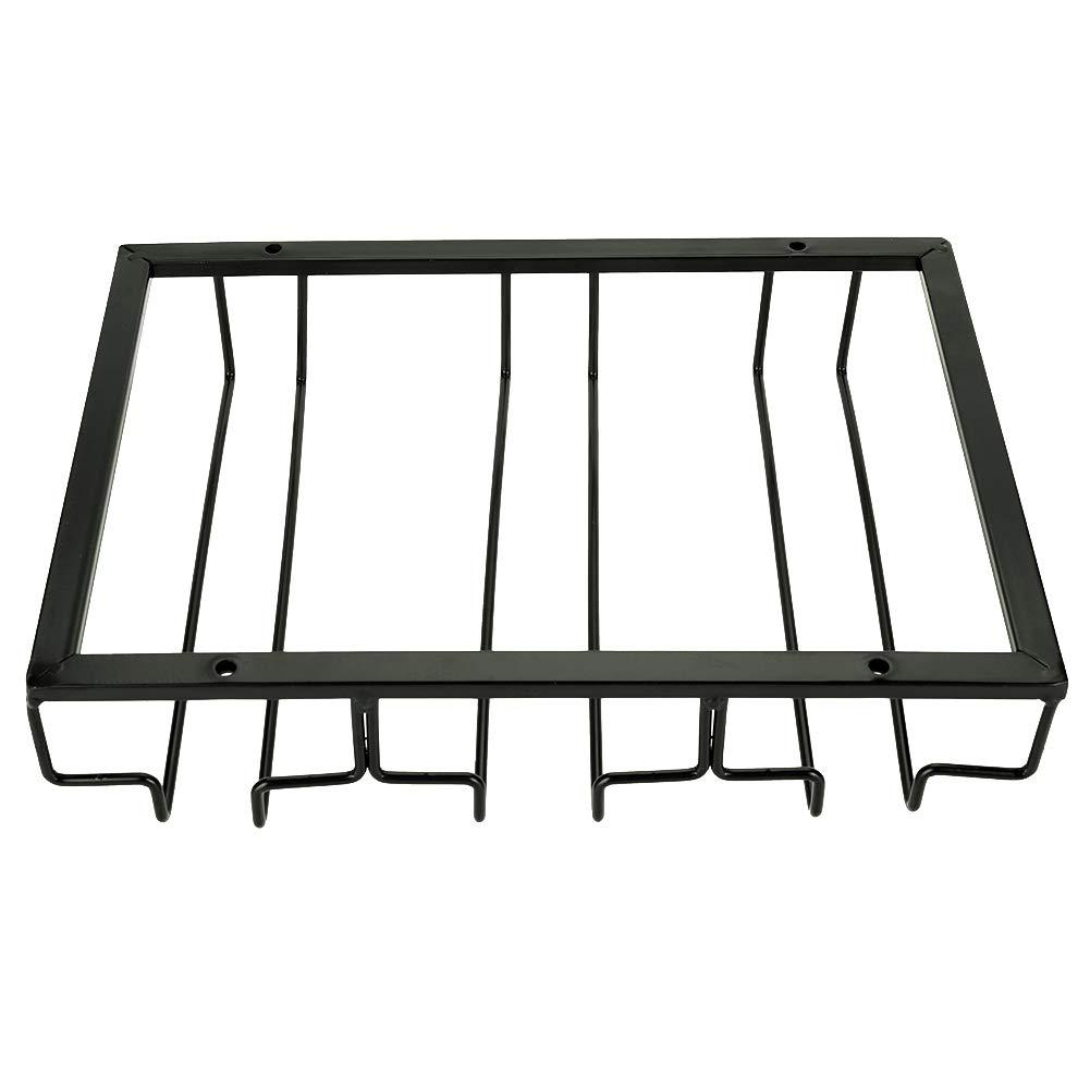 Wine Glass Rack Metal Iron Wine Cabinet Storage Kitchen Dining Bar Cup Holder Hanger Shelf FTVOGUE