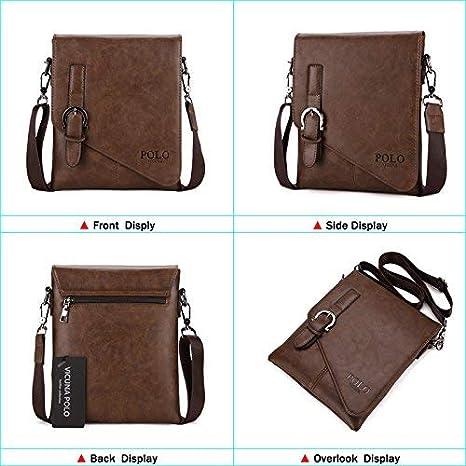 Beezen CrossBody Bag Messenger Bag for Men iPad Bag for Men Bag Work Purse Shoulder bag Black