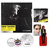 SHINEE TAEMIN 2nd Mini Album - Want [ WANT Ver. ] CD + Booklet + Mini Paper Photo Stand + Photocard + OFFICIAL POSTER + FREE GIFT / K-POP Sealed
