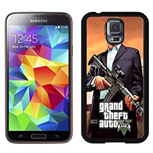 Easy use Cell Phone Case Design with GTA 5 Logo Michael Galaxy S5 Wallpaper