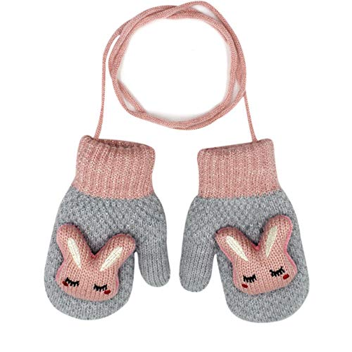 Orityle Winter Cute 3D Cartoon Animal Bunny Gloves Knitted Mittens for Kids Girls Boys Unisex