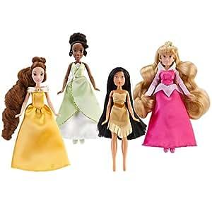 Amazon Com Mini Disney Princess Doll Set 1 4 Pc Toys