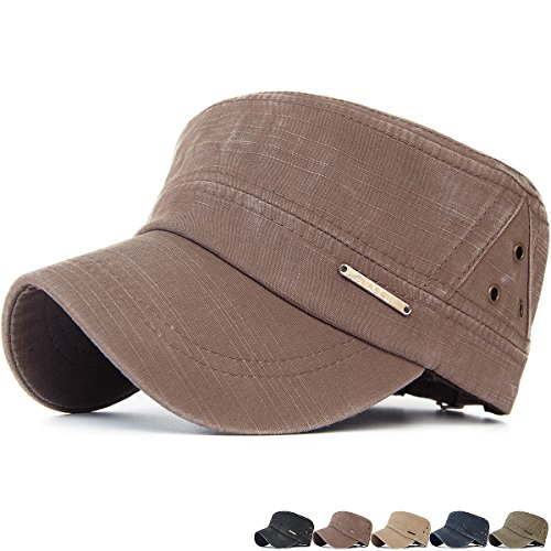 Rayna Fashion Unisex Adult Cadet Caps Military Hats Various Design and Colors Skull Cadet Hat
