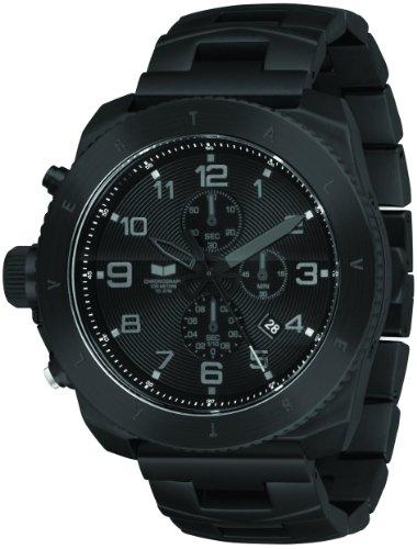 Vestal Men's RES002 Restrictor All Black Chronograph Dive Watch