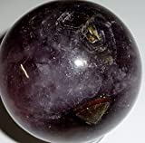 """1pc #15A Cacoxenite """"Super 7"""" Premium Quality Large Rare """"Melodies Stone"""" Crystal Healing Gemstone Energy Orb Decorative Sphere Ball"""