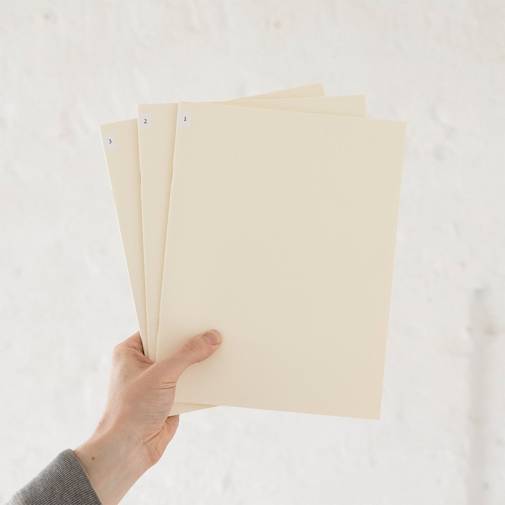 MIDORI MD Notebook Light A4 Variant (Gridded) 3 pcs/pack by Desighnphil (Image #5)