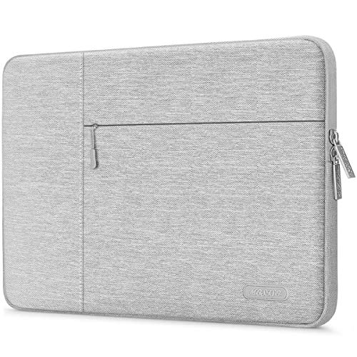 MOSISO Laptop Sleeve Compatible with 13-13.3 Inch Macbook Pro, Macbook Air, Surface Laptop, Chromebook Notebook Computer Bag with Upper Side Zipper, Polyester Multifunctional Carrying Case Cover, Gray