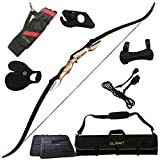 Samick Sage Takedown Recurve Bow Bundle with: Summit Archery Deluxe Bow Package (Finger Tab, Armguard, Sight, Rest, Bow Stringer, and Bow Case) REG: $259.99 (Finger Tab: Medium, Right Hand, 40#)
