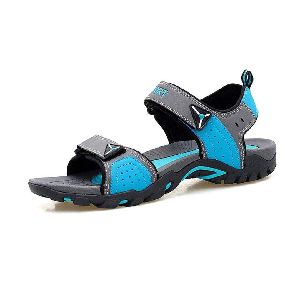 Fuxitoggo Sommer Sandalen, Paar Sandalen, Modetrends Outdoor-Schuhe, Offene Zehen Zehen Zehen Strand Flachen Sandalen, Bequeme Klettverschluss Sport Wanderschuhe (Farbe   EIN, Größe   41) (Farbe   E, Größe   46)  4f43a9